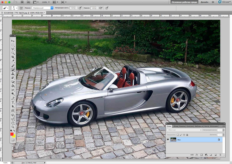 Загрузка и использование экшена в Photoshop