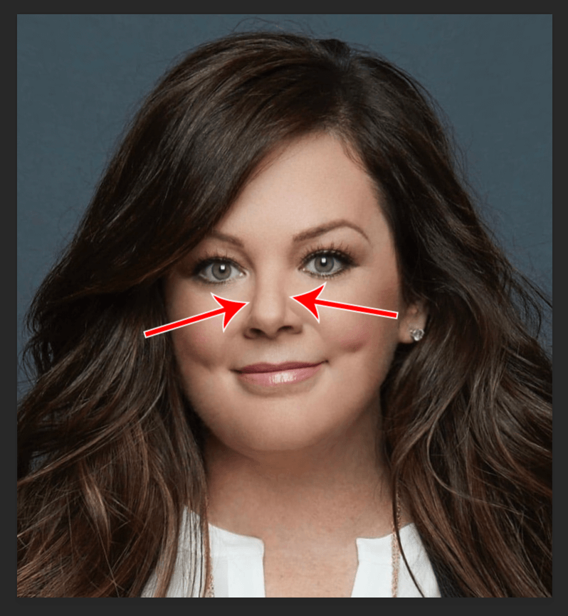 Как в Фотошопе сделать лицо худее