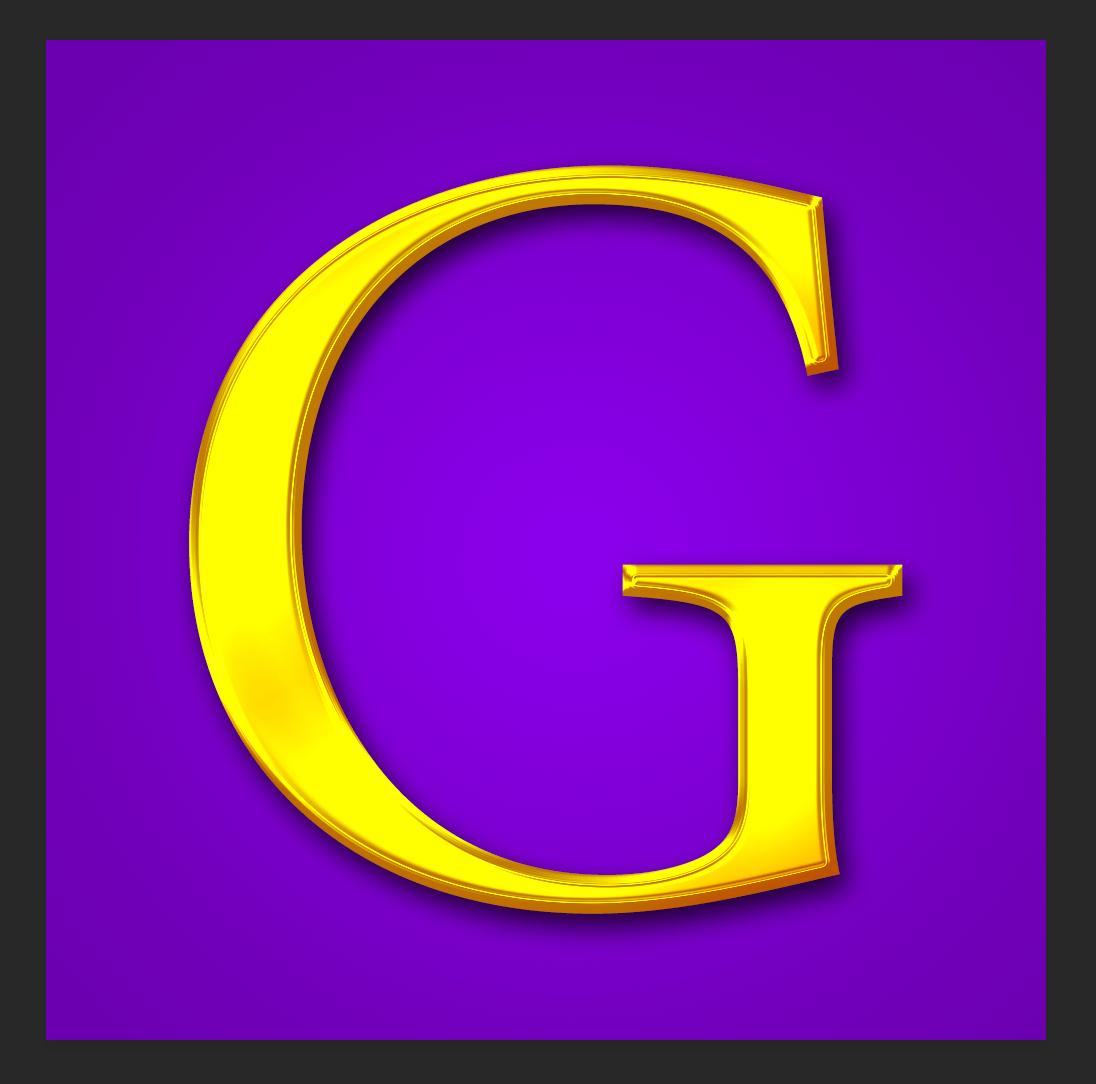 Как сделать золотые буквы в Фотошопе