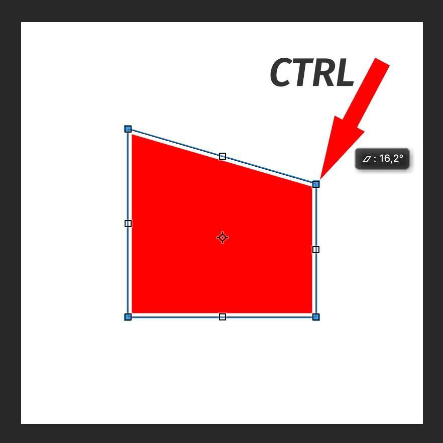 Свободное трансформирование с зажатой клавишей CTRL