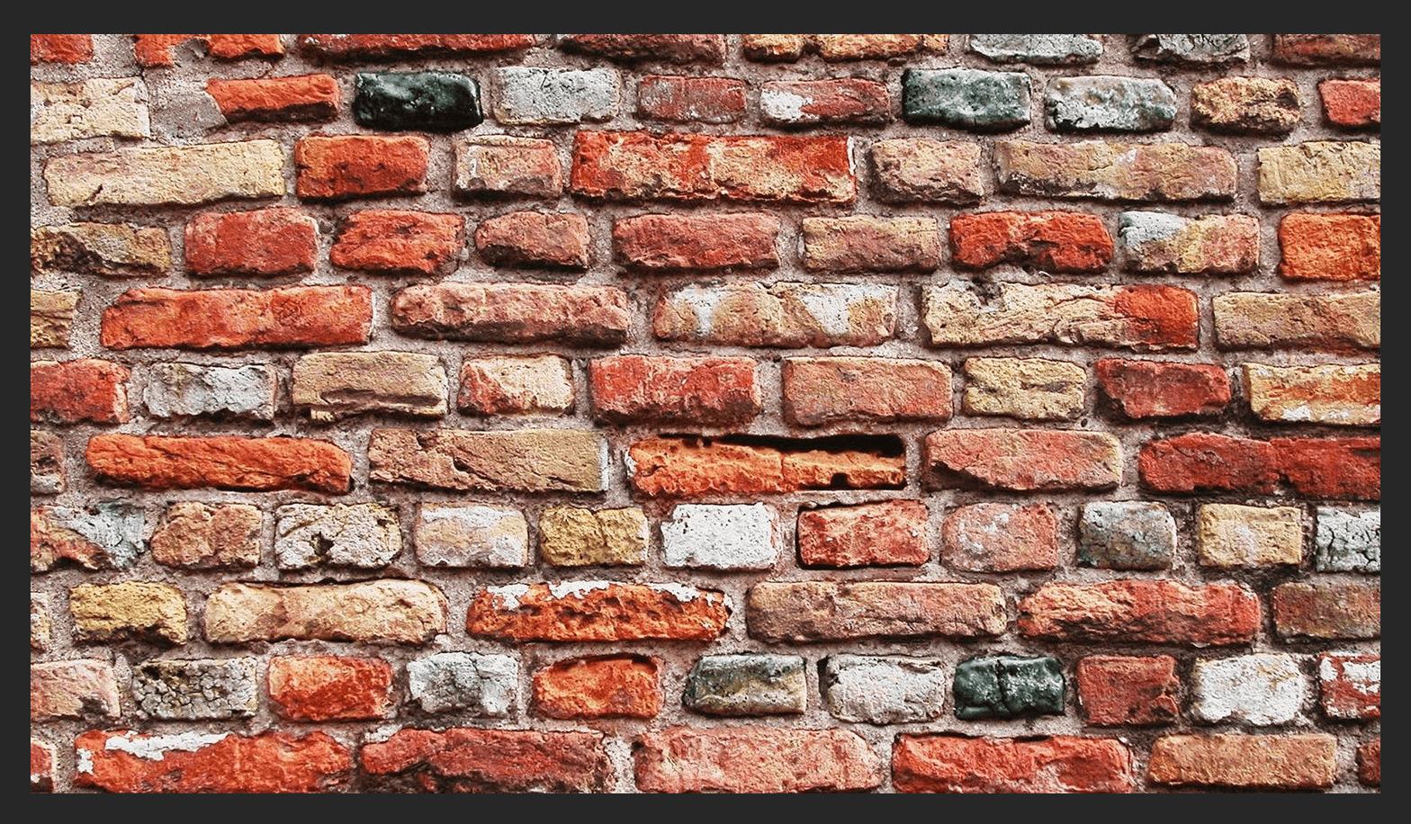 кирпичная стена в фотошопе