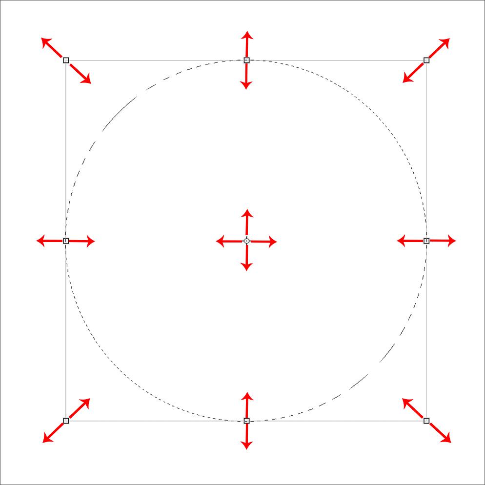 Изменение положения и размера выделенной области в Фотошопе