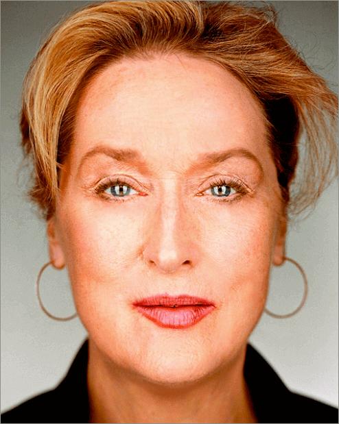Результат удаления морщин на лице в Фотошопе