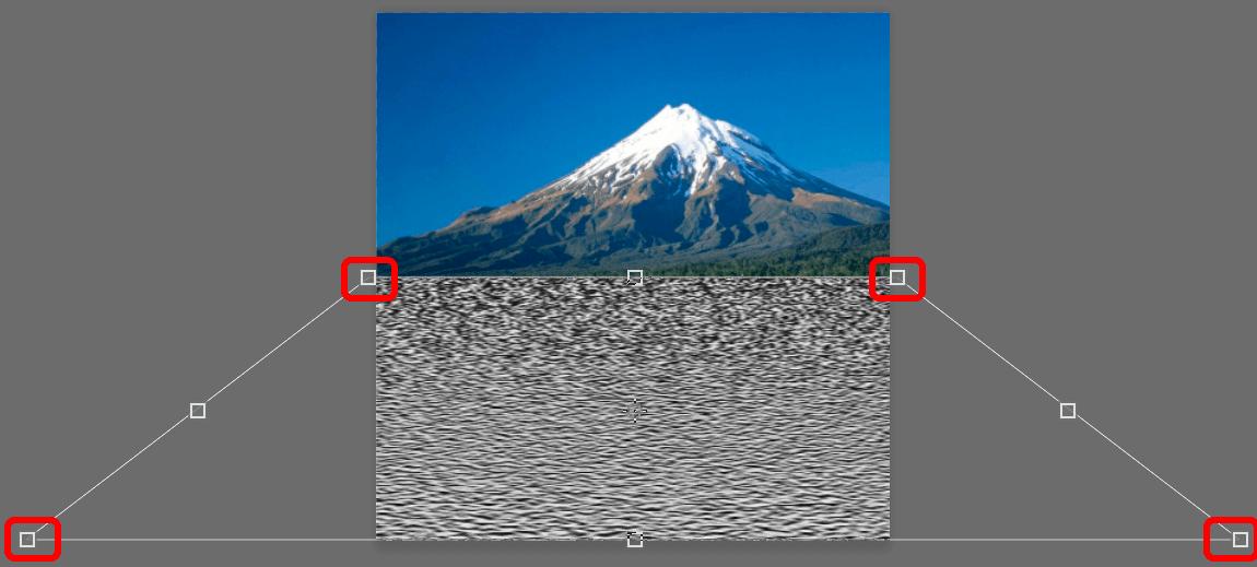 Изменение перспективы слоя в Photoshop