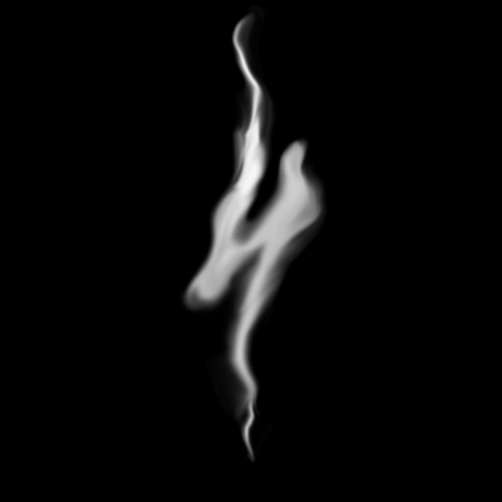 Создание дыма из прямой линии с помощью инструмента Палец в Photoshop