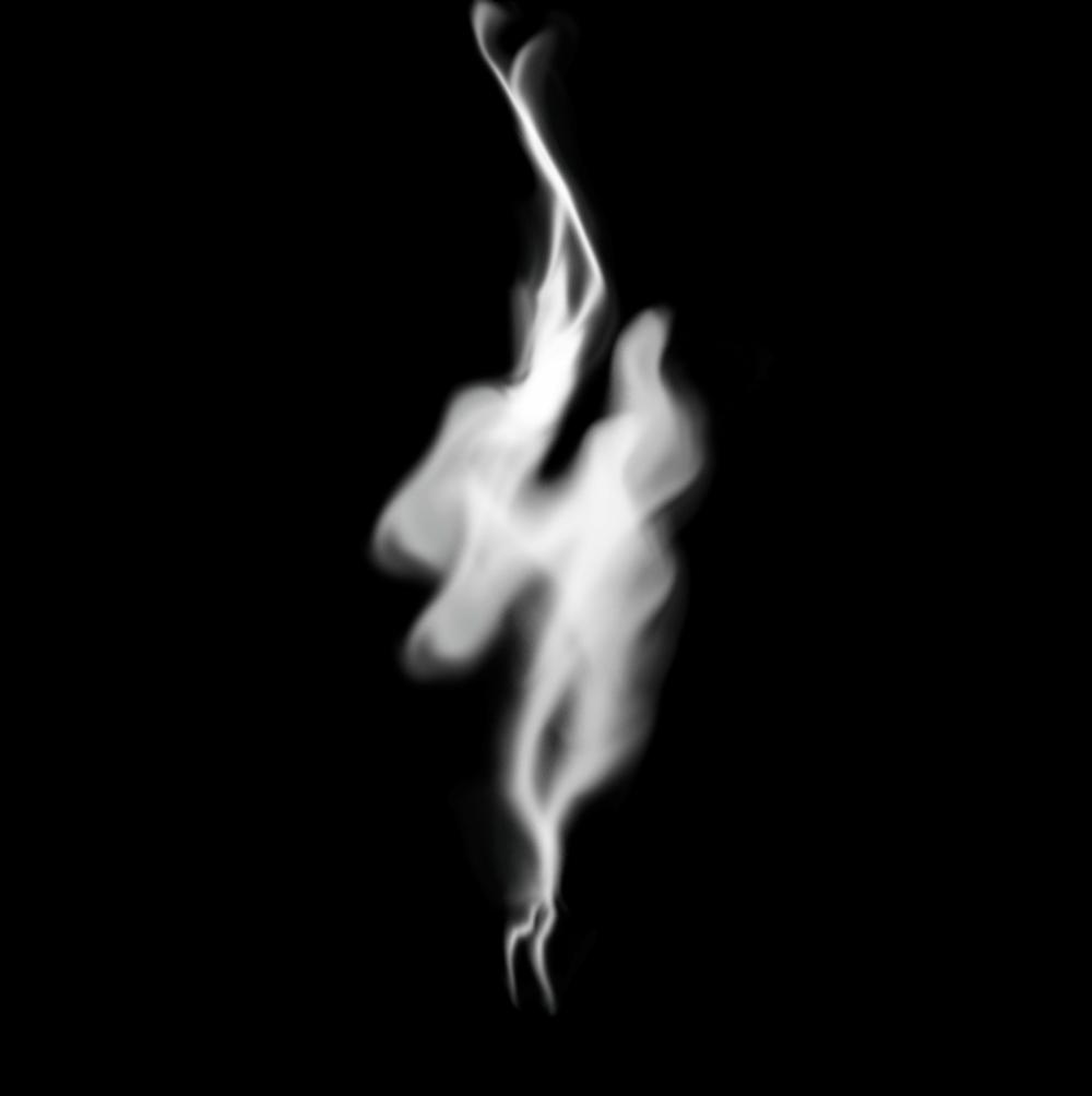 Работа над слоями дыма в Фотошопе