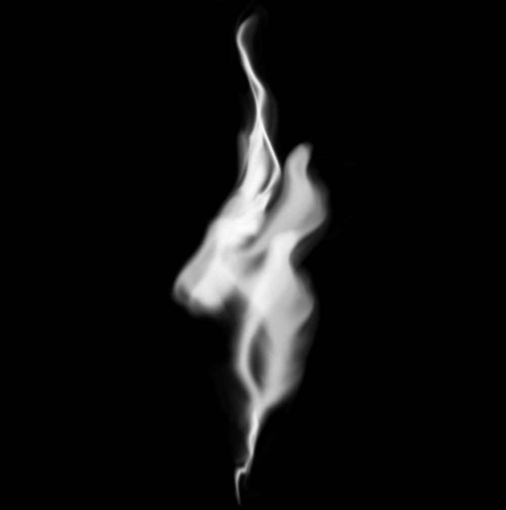 Обработка слоев дыма в Фотошопе
