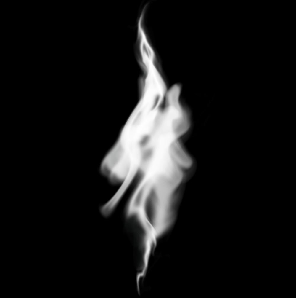 Результат создания нескольких слоев дыма в Фотошопе