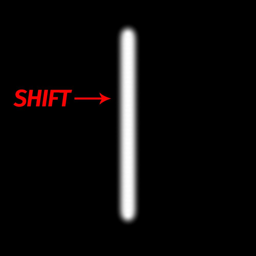 Прямая линия с помощью кисти в Photoshop