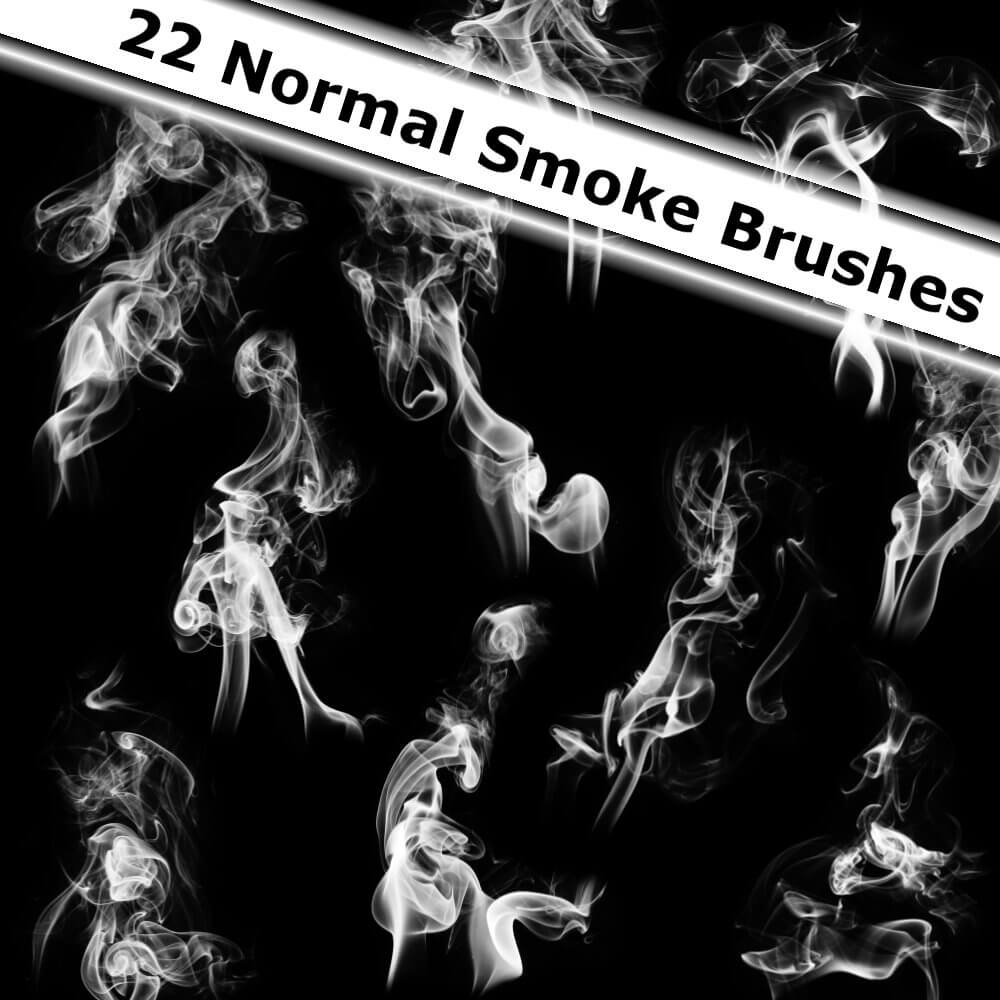 22 кисти обычного дыма для Фотошопа