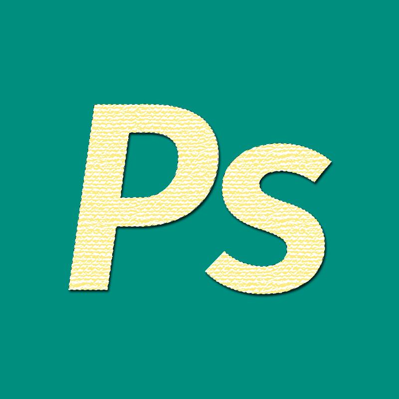 Результат применения фильтра Текстуризатор к альфа-каналу в Фотошопе