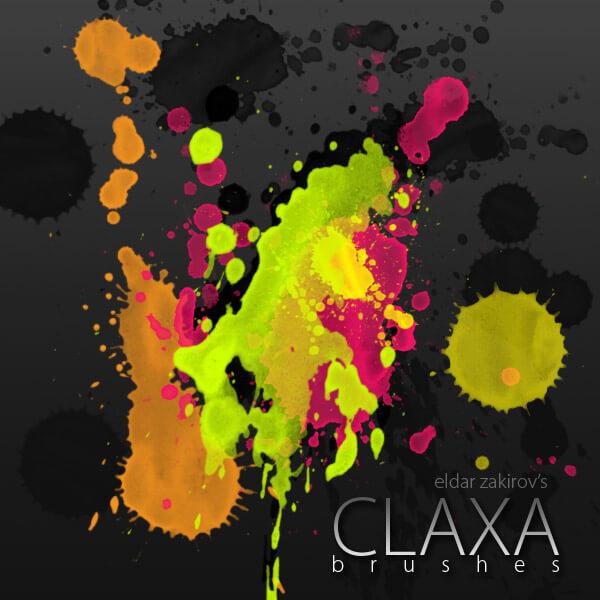 Кисти с брызгами и кляксами краски (Claxa Brushes)