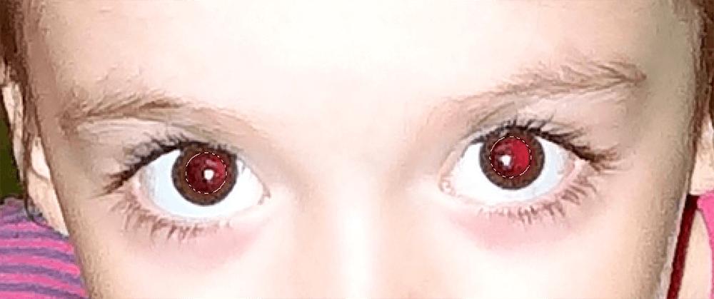 Выделение красных зрачков в Фотошопе