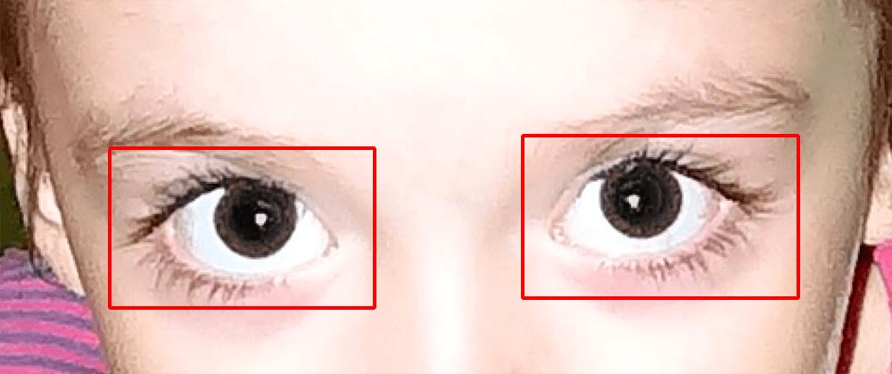 Применение инструмента Красные глаза в Фотошопе