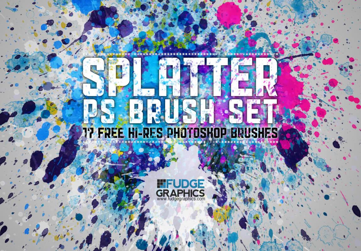 Кисти с брызгами краски (Splatter PS Brush Set)