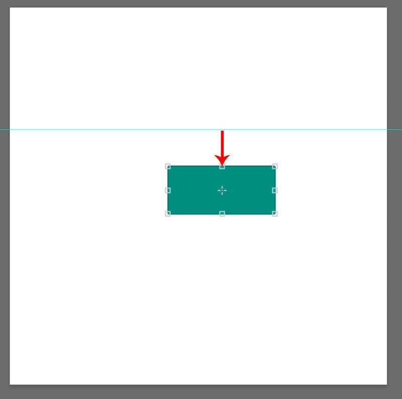 Отдаление объекта от линии направляющей в Photoshop
