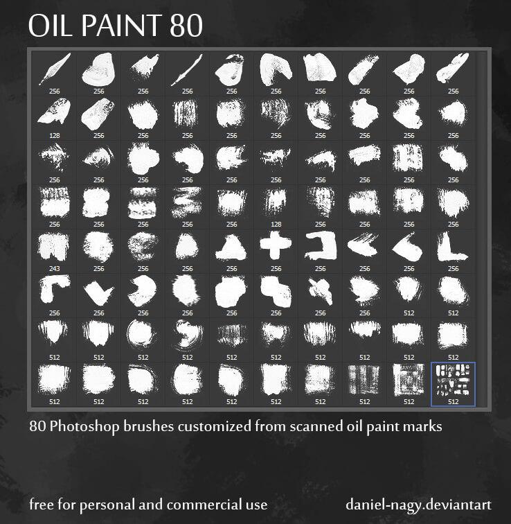 Кисти для имитации масляной краски в Фотошопе