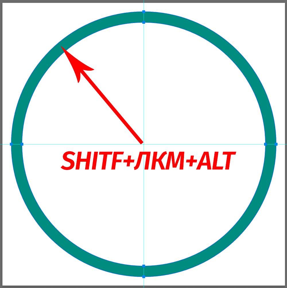 Создание круглой рамки в Фотошопе по центру холста