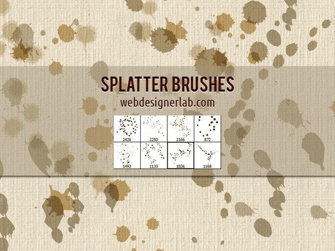 Кисти с кляксами и брызгами (Splatter Brushes)