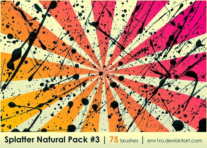 Кисти для имитации брызг и капель (Splatter Natural Pack 3)