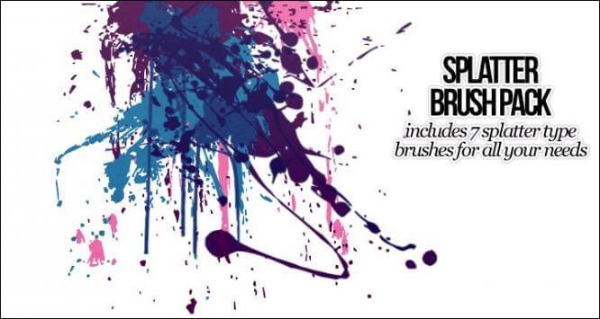 Кисти с брызгами (Splatter Photoshop Brush Pack)