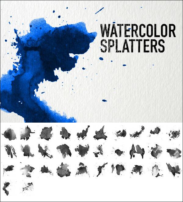 Кисти с акварельными брызгами (Watercolor Splatters Brushes)