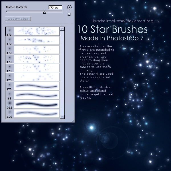 10 кистей со звездами для Фотошопа
