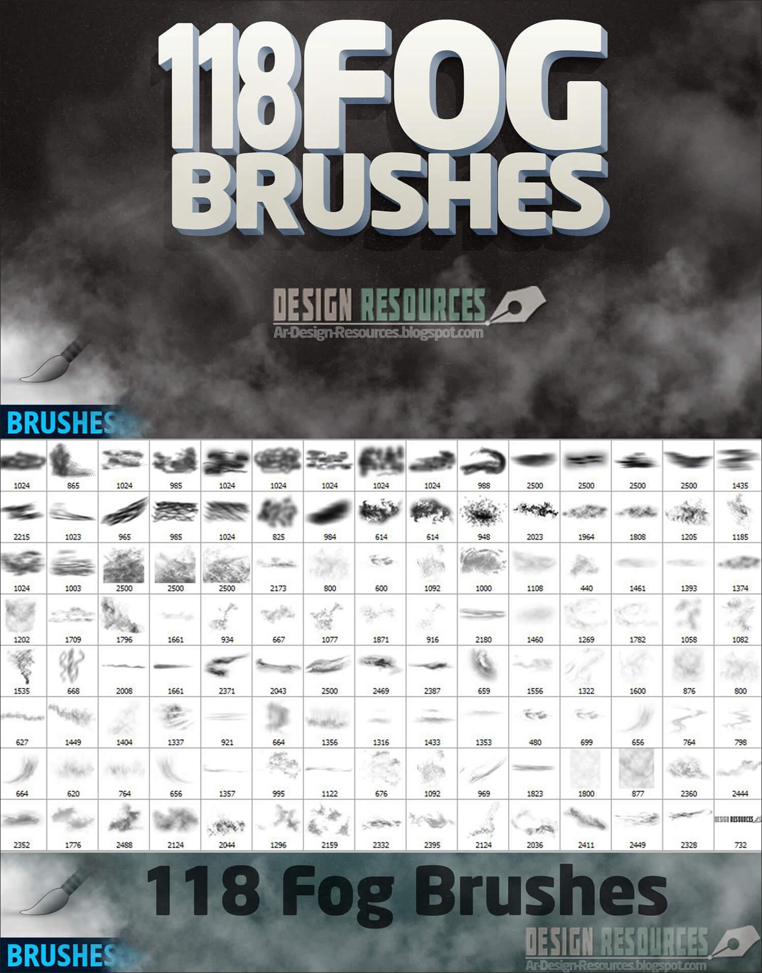 Кисти для рисования туманов и дымок в Фотошопе