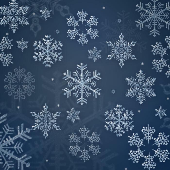 Кисти со снежинками для Фотошопа