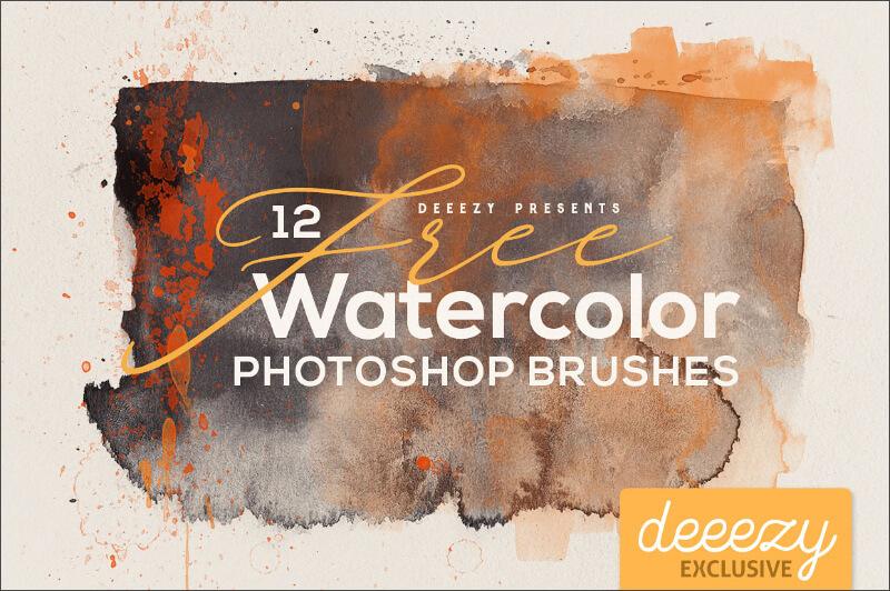 12 художественных акварельных кистей для Фотошопа