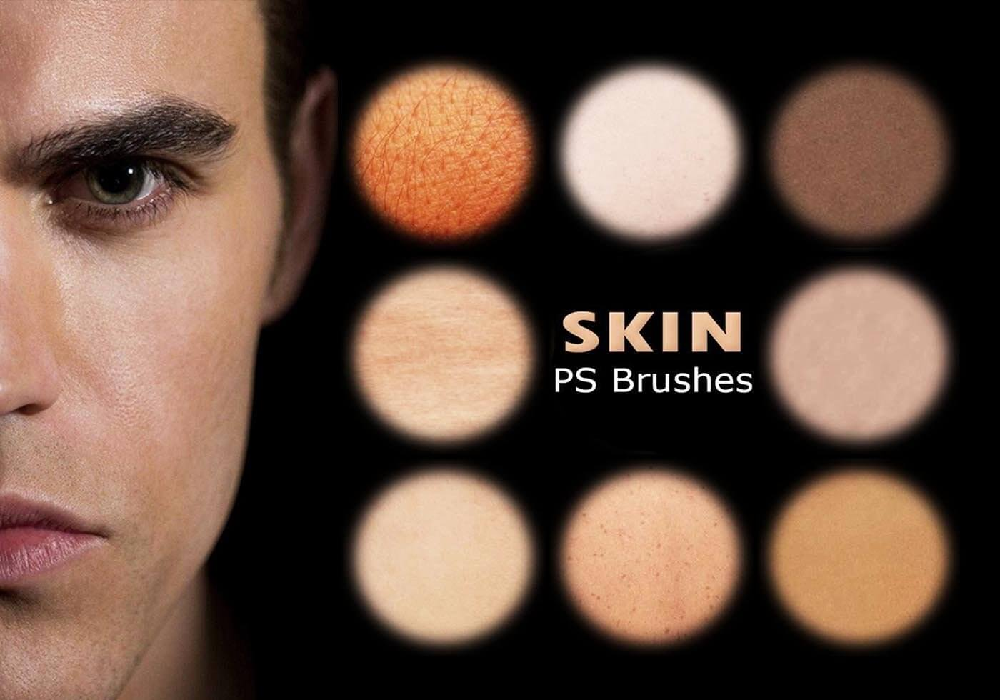 20 кистей с текстурами кожи для Фотошопа