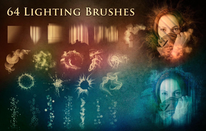 Кисти для рисования световых эффектов в Фотошопе