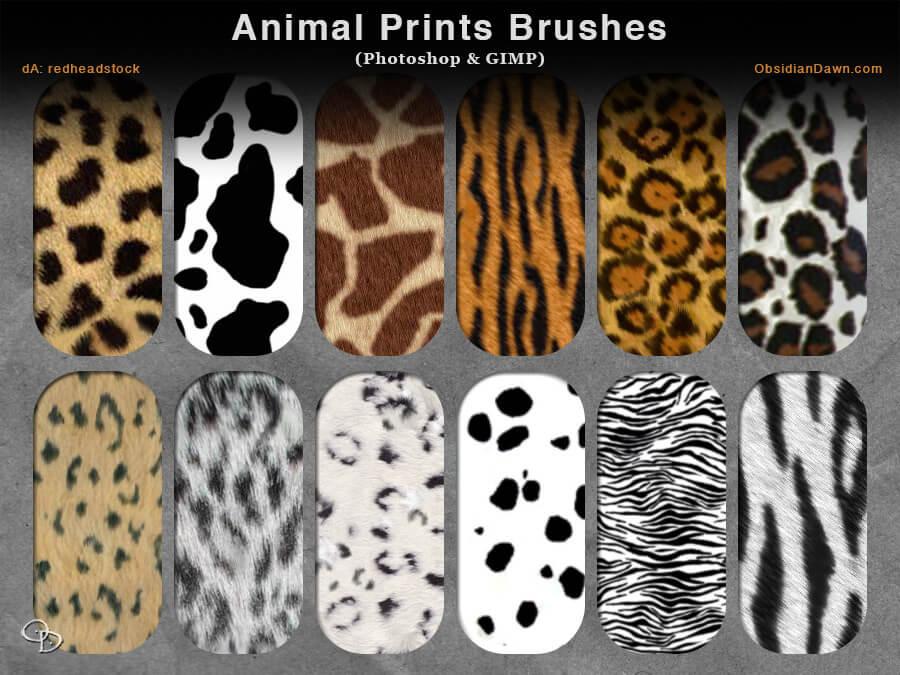 Кисти для рисования шерсти животных в Фотошопе