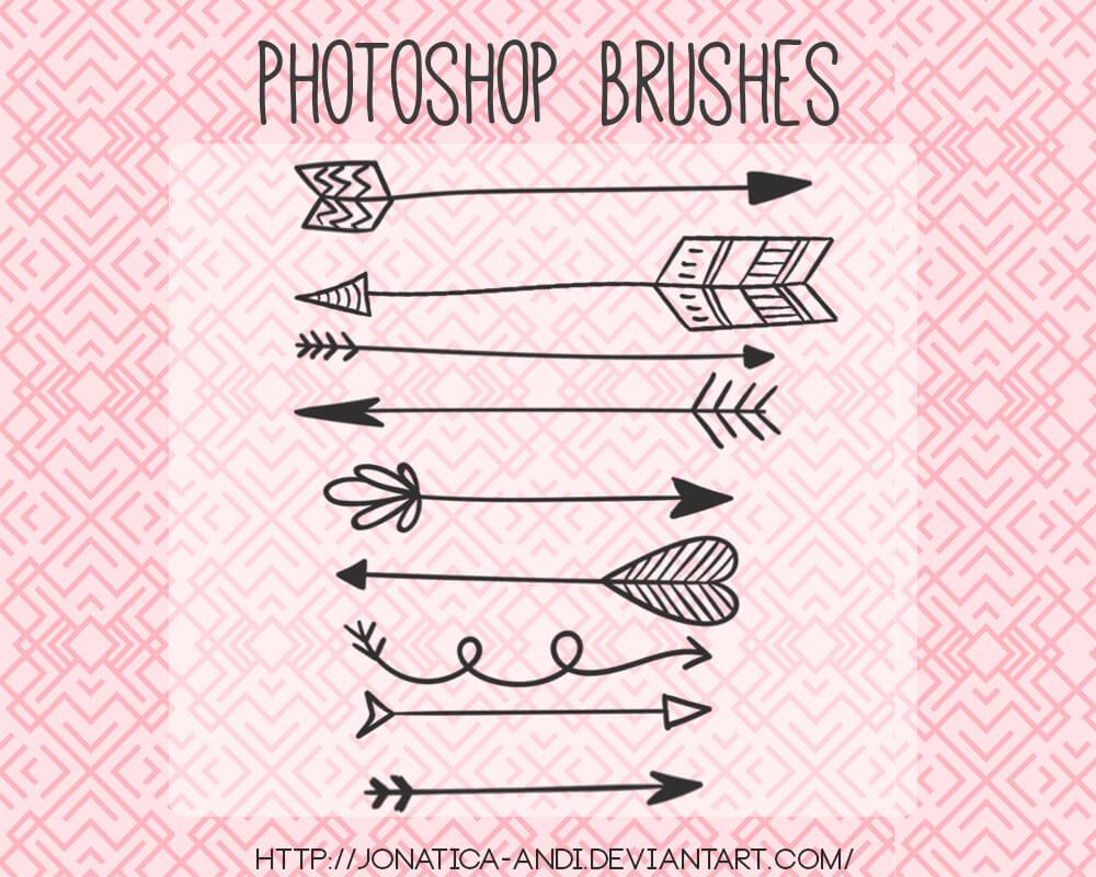 Кисти с декоративными стрелками для Фотошопа