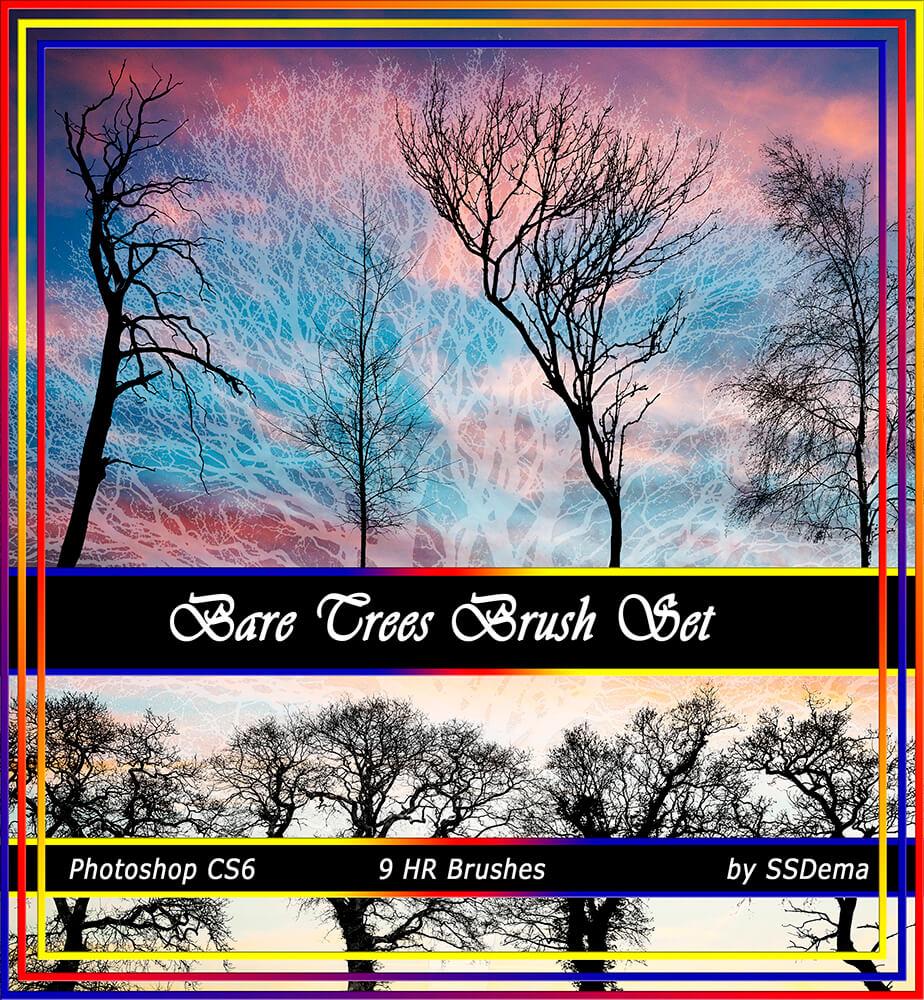 Кисти с деревьями для Фотошопа
