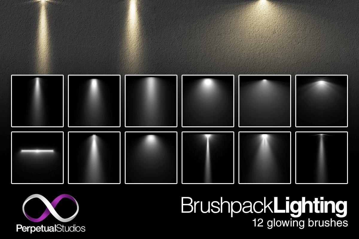 Кисти для создания источников света в Фотошопе