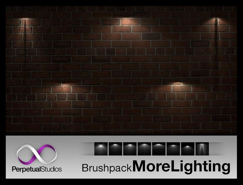 Кисти для рисования источников света в Фотошопе