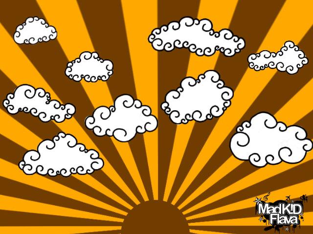Кисти с мультяшными облаками для Фотошопа