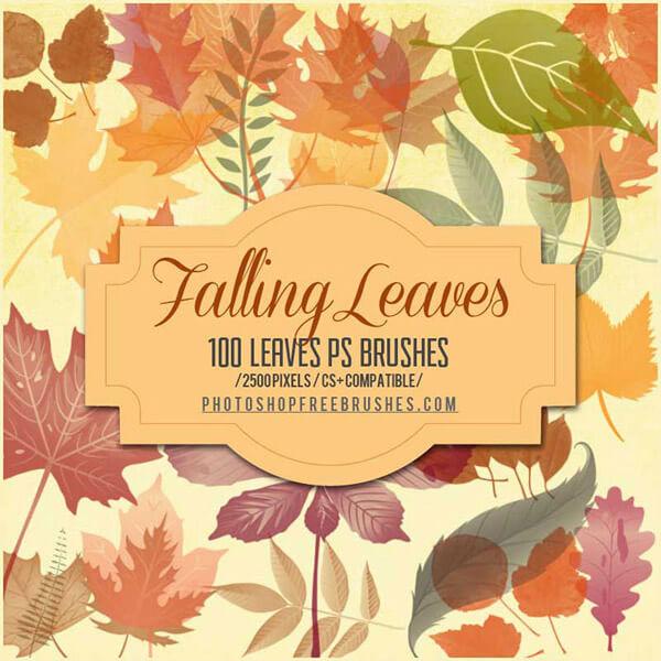 Кисти с осенними листьями для Фотошопа