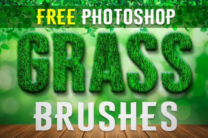 Кисти для рисования травы в Фотошопе