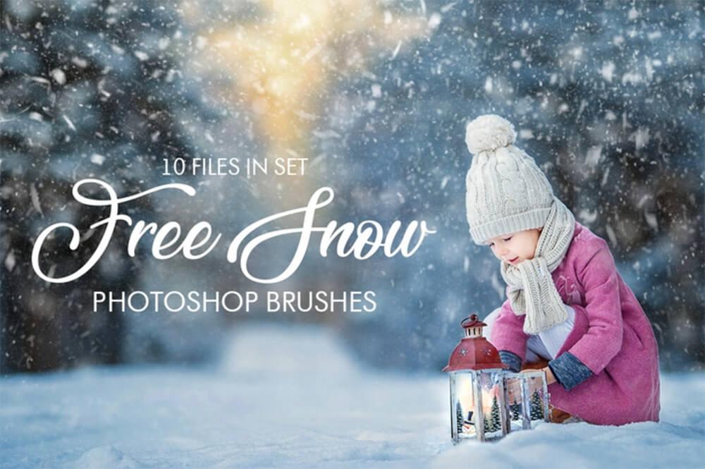Кисти со снегопадом для Фотошопа