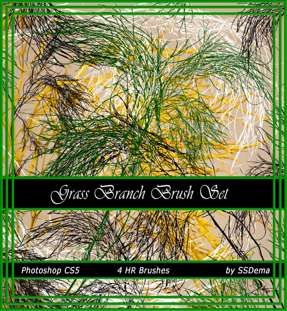 Кисти высокого качества для рисования травы в Фотошопе