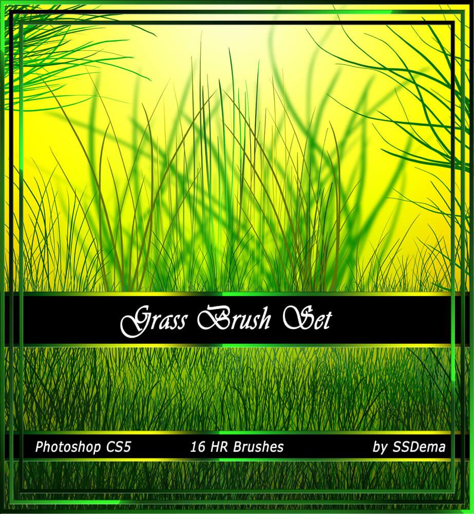 Высококачественные кисти для рисования травы в Фотошопе