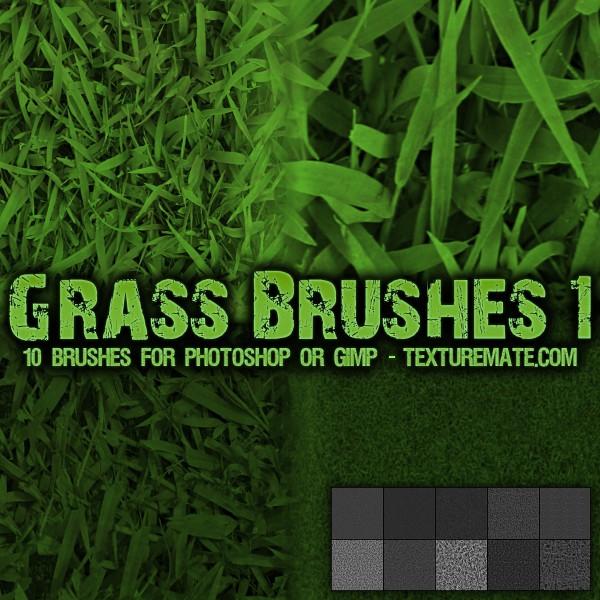 Кисти с текстурой травы для Фотошопа