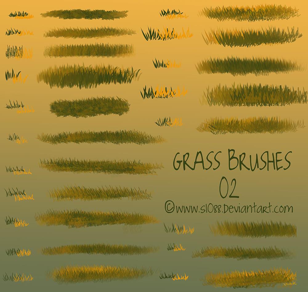 Кисти для рисования утренней травы в Фотошопе