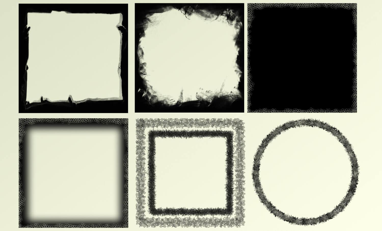 Кисти для создания гранжевых рамок в Фотошопе
