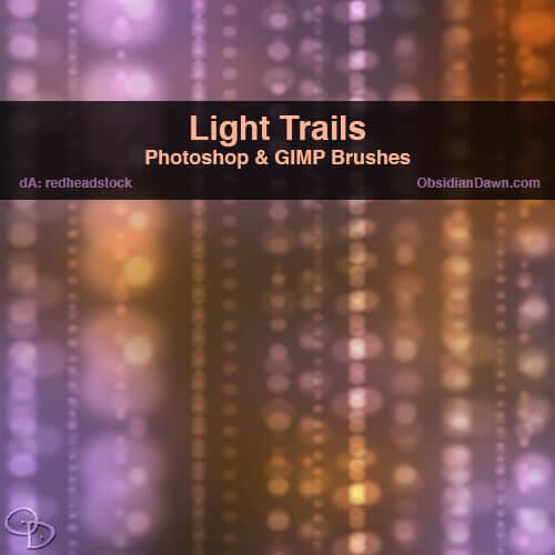Кисти со световыми дорожками для Фотошопа