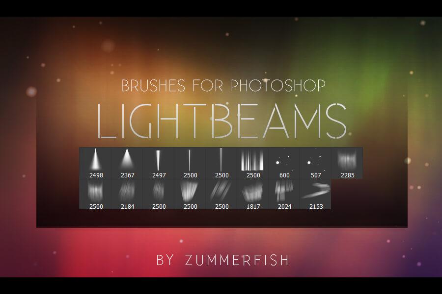 Кисти со световыми лучами для Фотошопа