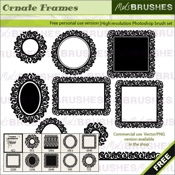 Кисти для создания рамок с орнаментами в Фотошопе