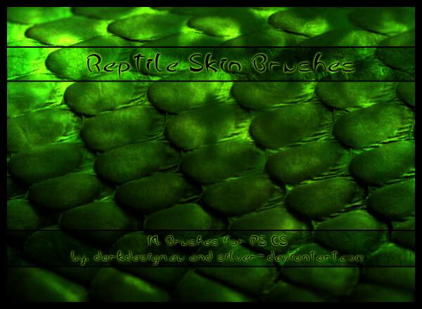Кисти с кожей рептилий для Фотошопа